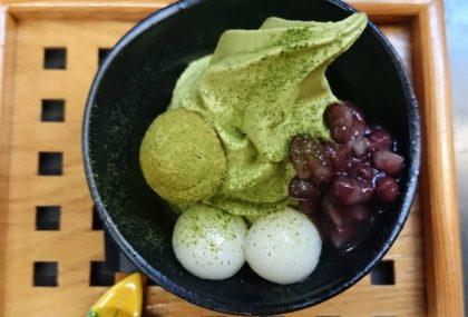 暑い夏に抹茶ソフトクリームメニュー!